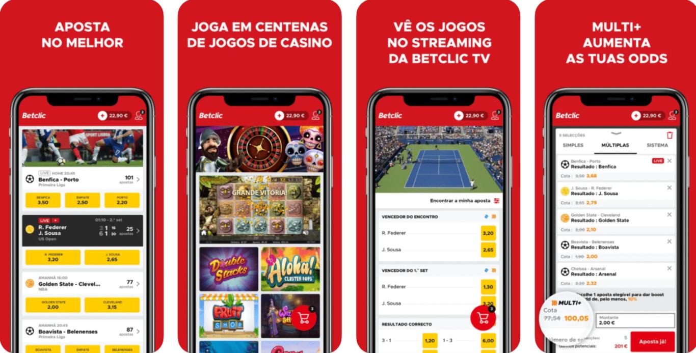 Quais jogos posso jogar usando BetClic app