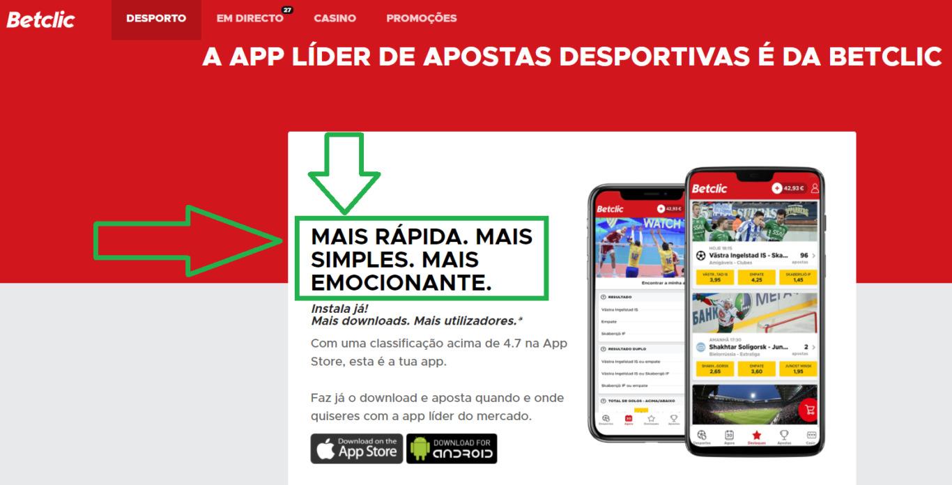 Baixe o melhor BetClic app de apostas online