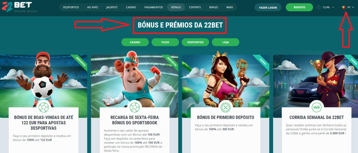 Bem-vindo 22Bet bonuses para os recém-chegados da empresa